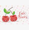 cute fruits cartoons vector image vector image