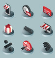 cyber monday color isometric icons vector image