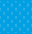 dinosaur lizard pattern seamless blue vector image