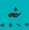 drop icon flat vector image