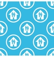 Family house sign blue pattern vector image vector image