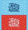 Feliz natal lettering merry christmas greetings