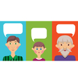 GFamily speech bubbles vector image vector image