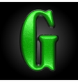 green plastic figure g vector image