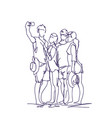 group of people taking together selfie photo on vector image vector image