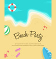 happy summer day poster collection vector image vector image