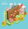 investment in property isometric flat vector image vector image