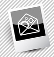 mail with gears vector image vector image