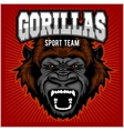 Mascot of gorilla head - sport team vector image