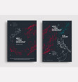 minimal covers design with line polygons plexus vector image