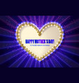 mothers day golden heart greeting card vector image vector image