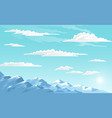 mountains landscape abstract blue panoramic view vector image