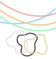 multicolored beads and bracelets from pearls for vector image