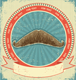 mustaches symbol vector image vector image