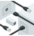network internet data connectors vector image