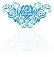 Ornate elegant floral frame in Gzhel style vector image vector image