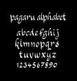 pagaru alphabet typography vector image vector image