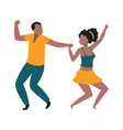 pair dancers cheerful man and woman dancing vector image vector image