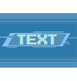 pixel blue frame for text vector image vector image
