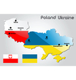 Poland and Ukraine vector image vector image