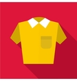 Polo shirt icon flat style vector image vector image