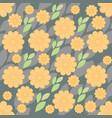 retro orange flower overlapping petals vector image vector image
