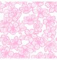 sakura hand drawn pattern vector image