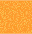 seamless curve pattern - hand drawn design vector image vector image