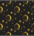 seamless pattern background moon nature cosmos vector image vector image