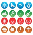 season weather and activity icon set 1 vector image vector image