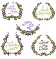 set of hand-drawn calligraphic vintage wreathes vector image vector image