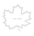 Shaded divider maple leaf vector image