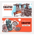 Singapore Hand Drawn Sketch Banners vector image vector image