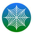 spider on web white icon in vector image vector image