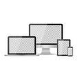 tablet laptop phone and computer devices desktop vector image