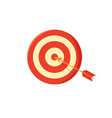 target board and arrow poster vector image