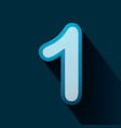 volume icons number one vector image vector image
