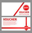 voucher certificate blank template vector image