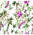 Wild flowers seamless pattern vector image vector image
