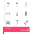 wine icon set vector image vector image