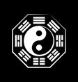 yin-yang duality and ba-gua 8 trigrams vector image