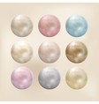Set of pearls of different colors vector image