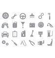 Mechanic gray icons set vector image