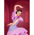 Flamenco dance vector image