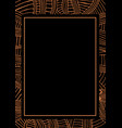 abstract frame african pattern ethnic style vector image