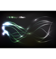 abstract light flow vector image vector image