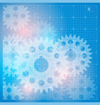 abstract technology background with a cogweels vector image