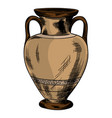 ancient greek vase vector image