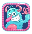 App icon with blue fluffy funny monster vector image vector image