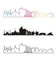 Astana skyline linear style with rainbow vector image vector image